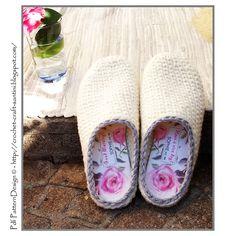 Ravelry: Crochet-Knit White Slipper-Clogs - Basic Pattern - With personalized insoles! Crochet Pattern by Ingunn Santini