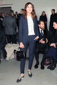 16 Fashion Risks That Seriously Paid Off #refinery29  http://www.refinery29.com/fashion-risks#slide11  Alexa Chung Ellen-izes a trim navy suit with the normcore sneaker of choice, the New Balance 574.