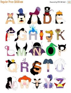 Alphabet Disney characters Cross Stitch Alphabet Disney Pattern abc pattern ponto de cruz needlepoint x Needlepoint Patterns, Cross Stitch Patterns, Alfabeto Disney, Caligraphy Alphabet, Disney Villains, Disney Characters, Disney Alphabet, Phineas Y Ferb, Disney Scrapbook Pages
