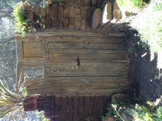 Old gate at Myrtle Creek Nursery in Fallbrook, CA
