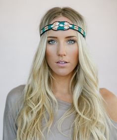 Look at this #zulilyfind! Green & Peach Geometric Bead Headband by Three Bird Nest #zulilyfinds