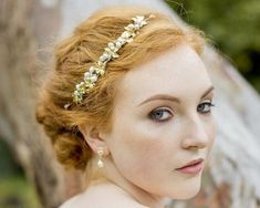Wedding Hair Combs - Gold Leaf And Freshwater Pearl Headpiece, Gold Vine Rose Gold Accessories, Wedding Accessories, Hair Comb Wedding, Wedding Hair Pieces, Pearl Headpiece, Hair Vine, Crystal Earrings, Bridal Jewelry, Wedding Hairstyles