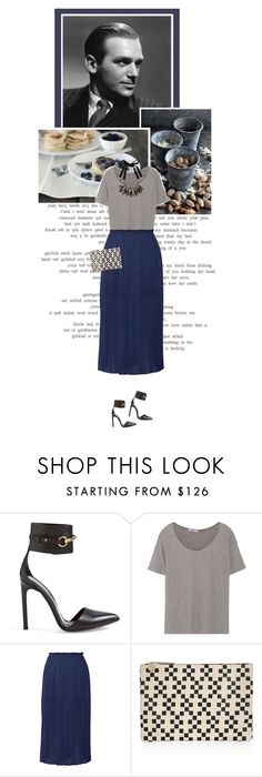 """""""Doug"""" by fashion-confidential ❤ liked on Polyvore featuring Gucci, T By Alexander Wang, Rebecca Minkoff, Clare V. and Marni"""