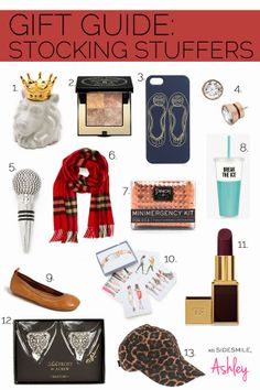 Gift Guide: Stocking Stuffers by Sky Style :: Perfect for my sister! Christmas Gifts For Friends, Holiday Gifts, Christmas Presents, Christmas Ideas, Xmas, Craft Gifts, Diy Gifts, Best Gifts, Christmas Stocking Fillers