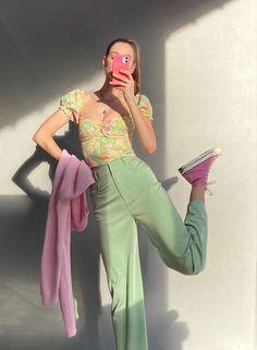 Foto Mirror, Mirror Mirror, Pretty Outfits, Cute Outfits, Casual Outfits, Love Fashion, Fashion Outfits, 2000s Fashion, Korean Fashion