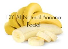 If you are sick of blemishes, uneven skin tones or blackheads then I have a face mask for you!  #DIY All #Natural Banana #Facial