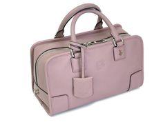 Loewe Amazona 28 Hand bag Leather Pink Beige 352.79.A03(BF050400)