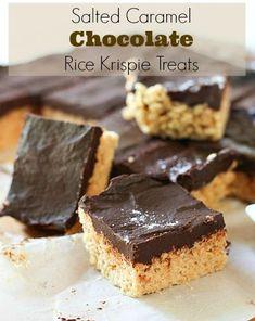 Salted Caramel Chocolate Rice Krispie Treats