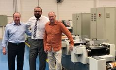 John Mayers, managing director of PID Labelling, visited Etirama's factory outside Sao Paulo in March, together with Tony Barrett of Etirama agent Grafitec Web