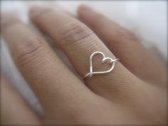 A simple heart-shaped ring!                                                                                                                                                                                 More