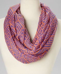 Orange & Blue Chevron Infinity Scarf (more colors and patterns) WOW ..under 10 dollars!