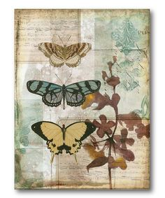 Music Box Butterflies I Gallery-Wrapped Canvas
