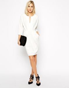 Enlarge River Island Pleat Front Shift Dress