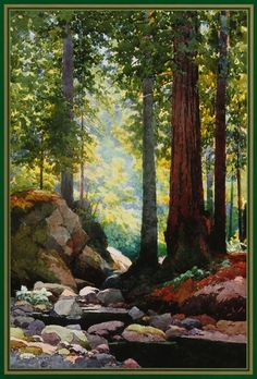 L.P. Latimer was a leading California watercolor painter, who flourished between 1880 and 1940. Latimer was one of California's first native-born painters. His specialty was the beautiful red wood forests of Northern California.