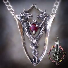 Amulets by Merlin   Twin Dragons Necklace http://www.amuletsbymerlin.com/product/MY38/Twin-Dragons-Necklace.html#