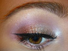 makeup inspiration for brown eyes: soft pinks and gold