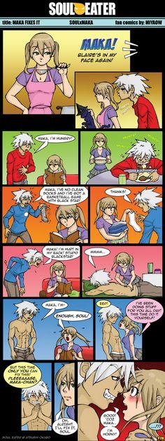 SE Comics Maka Fixes It by Miyaow on DeviantArt