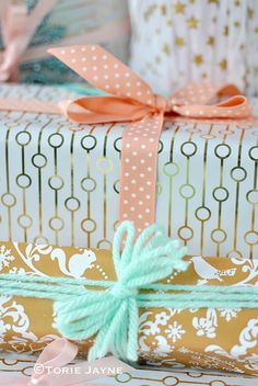 Gifts wrapping ideas by Torie Jayne