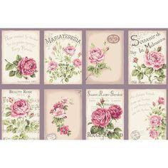 RuRu Rose Postcards panel - Violet