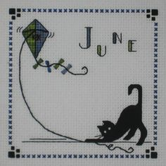 $12.00 Pre Order Cross Stitch Kats By Kelly June Flyin High Stitched by CrossStitchCards