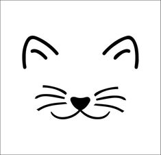 Discover recipes, home ideas, style inspiration and other ideas to try. Cat Face Drawing, Cat Outline, Illustrator, Rock Painting Designs, Rock Crafts, Mask Design, Rock Art, Easy Drawings, Cat Art