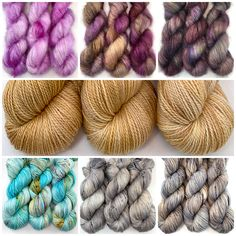 Recent additions to the Crooked Kitchen Yarn Shop, Hand Dyed Yarn, Food Coloring, Crochet Projects, Pattern Design, Knit Crochet, Stitch, Knitting, Kitchen