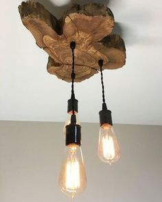 Modern Live-Edge Olive wood Light Fixture with 3 lights. Rustic Industrial Chandelier – COMERCIALIZADORA LUPSAN Modern Live-Edge Olive wood Light Fixture with 3 lights. Rustic Industrial Chandelier Modern Live-Edge Olive wood Light Fixture with 3 por Industrial Chandelier, Industrial Light Fixtures, Industrial Lighting, Kitchen Lighting, Industrial Style, Pendant Chandelier, Pendant Lighting, Rustic Industrial Decor, Kitchen Industrial