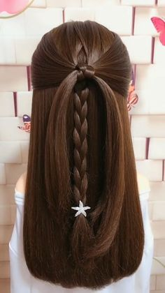 Never expected that this hairstyle would turn out so cute! Never expected that this hairstyle would turn out so cute! Hair Up Styles, Short Hair Styles Easy, Medium Hair Styles, Easy Hairstyles For Medium Hair, Braids For Long Hair, Simple Hairstyle Video, Simple Homecoming Hairstyles, Gel Hairstyles, Simple Hairstyles For Long Hair