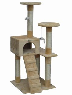 Go Pet Club Cat Tree Furniture Beige -- You can find more details by visiting the image link.
