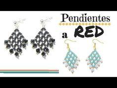 Como hacer unos Pendientes a Red con bugles ( minicanutillos ) - YouTube