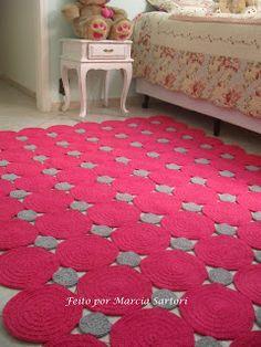 marcia sartori crochetando - check out all the unique ideas for crocheted rugs on this site