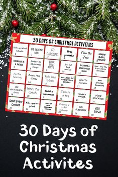 It's time to make the most of your holiday season with this free printable 30 Days of Christmas Activities | Christmas Bucket List Ideas.