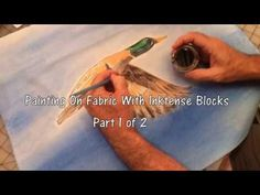 Painting On Fabric With Inktense Blocks - Part 1 of 2 - YouTube