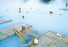 WILL go here before I die. Blue Lagoon...hot springs in Iceland.