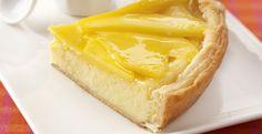 Pastel de mango y queso fresco