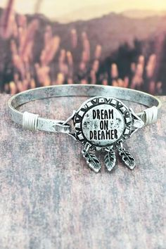 Let the world know you're a dreamer with this bracelet.