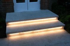 Truly Innovative Garden Step Lighting Ideas is part of home Garden Lighting - If you have steps in your back yard or patio they could be hazardous to use at night Check out some stylish Garden Step Lighting Ideas you can implement in your home Outdoor Stair Lighting, Stairway Lighting, Exterior Lighting, Strip Lighting, Home Lighting, Lighting Design, Outdoor Step Lights, Garden Lighting Ideas, Backyard Lighting