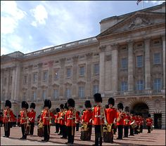 The Queen's Guard in London changes in the forecourt of Buckingham Palace at 11:30am every day in the summer and every other day in the winter © Crown copyright