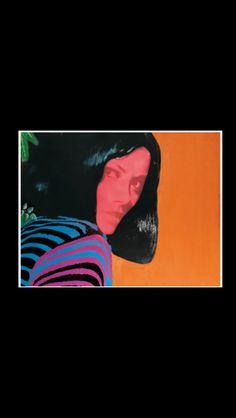 """Martial Raysse - """"Sans titre"""", 1962 - Huile, photographie et collage sur toile - 89,5 x 116,4 cm"""