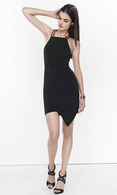 With an asymmetrical hem, a plunging back and cutouts, this LBD is a guaranteed showstopper.