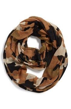 Adding this Michael Kors camo infinity scarf to the fall wardrobe.