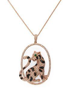 Signature Rose Gold Diamond & Emerald Pendant, 1.75 TCW