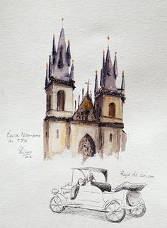 Prague: Eglise Notre Dame de TYN