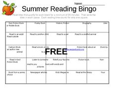 Spark a child's interest in reading during the summer with this Summer Reading Card.  Great project for home or school.  First page is instructions...