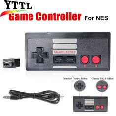 Black Color Wireless Plug and Play Gaming Controller for Nintendo for NES Classic Edition Gamepad for NES Mini Button Controller