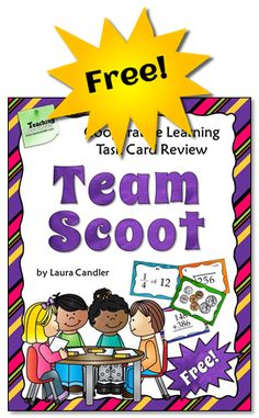 Team Scoot is a cooperative learning variation of the traditional whole-class Scoot game. In regular Scoot, students move from one desk to another . Teaching Strategies, Teaching Math, Teaching Resources, Teaching Ideas, Classroom Activities, Classroom Organization, Classroom Ideas, Classroom Management, Primary Classroom