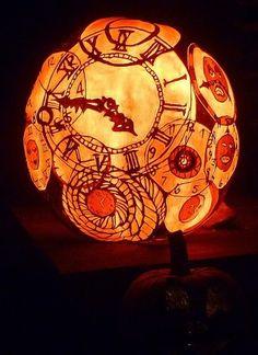 Halloween pumpkin steampunk style