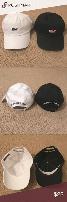 Vineyard Vines Baseball Cap Baseball caps from Vineyard Vines. Choose which color you want. White cap with blue logo or black cap with pink. New with tags never worn, originally purchased at the outlets. Vineyard Vines Accessories Hats