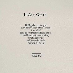 And if all boys were taught not to body sham girls...