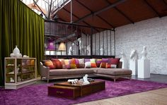 Living Room Inspiration | Colors and drape